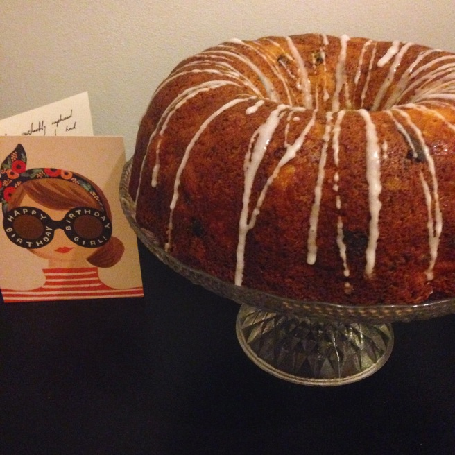 Apple, date and cinnamon bundt cake